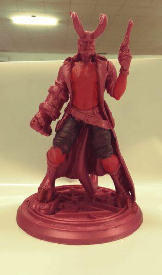 hellboy 3d jucarie printata 3d vopsita